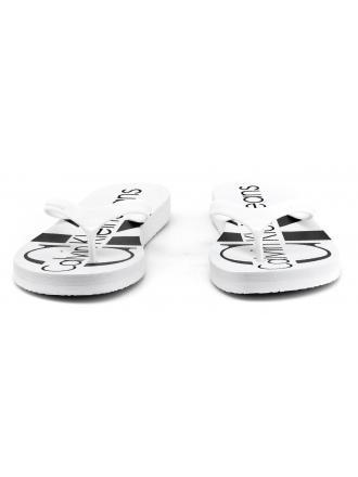Japonki Damskie Calvin Klein Jeans Białe Paulina R8948 White