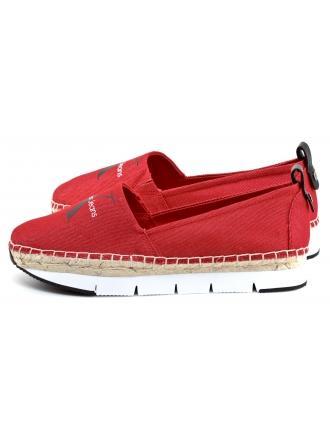 Espadryle Damskie Calvin Klein Jeans Czerwone Genna R8950 RED