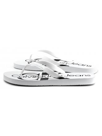 Japonki Męskie Calvin Klein Jeans Białe Dash S0063 White