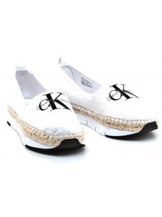 Espadryle Damskie Calvin Klein Jeans Białe Genna R3768 White