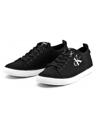 Sneakersy Męskie Calvin Klein Jeans Czarne Arnold S0369 Black
