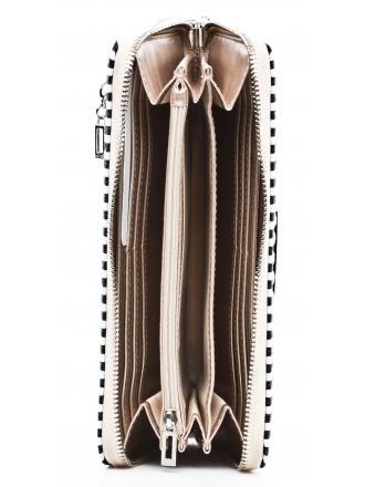 Portfel Damski GUESS Kremowy Paski SAWYER SLG SWST69 59460 BUS