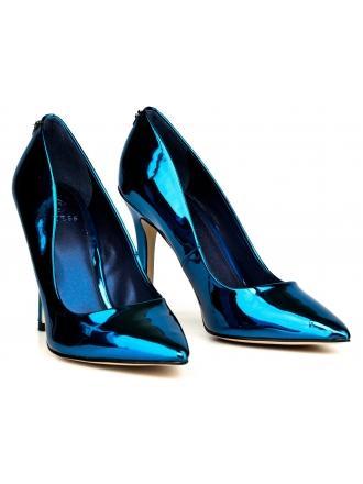Szpilki Damskie GUESS Niebieskie Lakierowane BLIX10 FLBL01 LEL08 BLUE