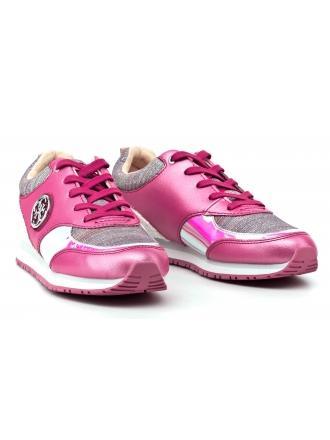 Sneakersy Damskie GUESS Różowe REETA FLREA1 PAT12 PINK