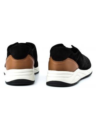 Sneakersy Męskie GUESS Czarne Skórzane NEW CODY FMNCO1 FAB12 BLACK