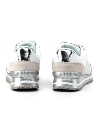 Sneakersy Damskie Calvin Klein Jeans Biało SrebrneTanya R0651 WHITE/SILVER