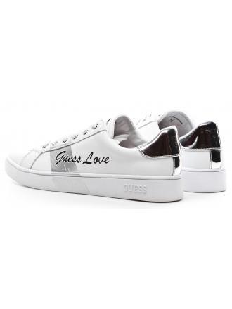 Sneakersy Damskie GUESS Białe Skórzane BOBO FLBOB2 LEA12 WHISI
