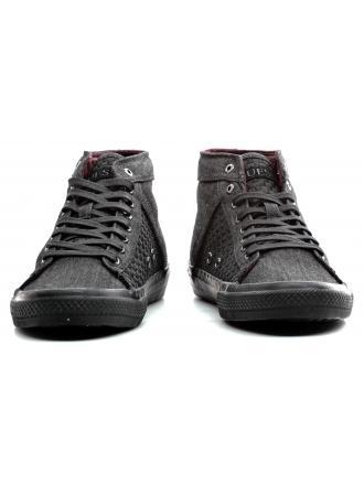 Sneakersy Męskie GUESS Czarne FMBNE3 FAB12 BLACK