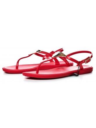 Sandały Damskie Emporio Armani Czerwone 45 X3Q056 XD133 00055 CORAL RED