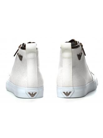 Sneakersy Damskie Emporio Armani Białe 45 X3Z017 XL219 A031 GOLD / WHITE