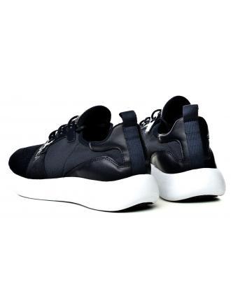 Sneakersy Męskie Calvin Klein Jeans Granatowe Mel Knit SE8596 Navy