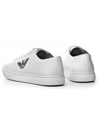 Sneakersy Męskie Emporio Armani Białe Skórzane 45 X4C471 XF190 00001 WHITE