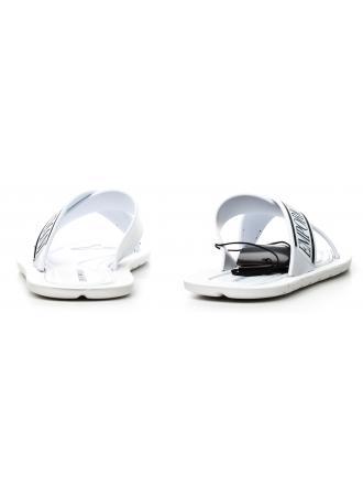 Klapki Męskie Emporio Armani Białe 45 X4P079 XL293 A045 WHITE/WHITE