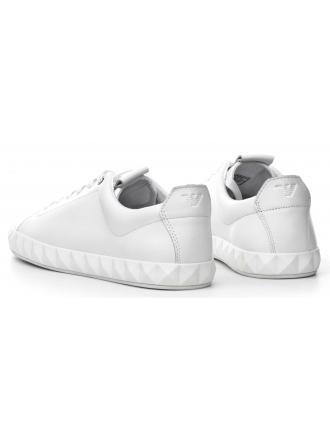Sneakersy Męskie Emporio Armani Białe Skórzane 45 X4X211 XF187 00001 WHITE