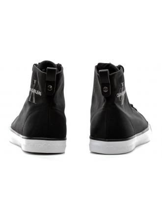 Sneakersy Męskie Calvin Klein Jeans Czarne Wysokie Arthur SE8587 Black