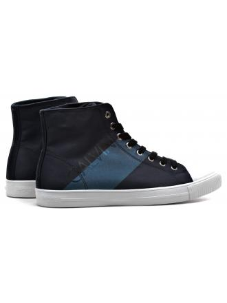 Sneakersy Męskie Calvin Klein Jeans Granatowe Wysokie Antani SE8591 Navy/Metal blue