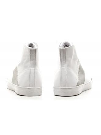 Sneakersy Męskie Calvin Klein Jeans Białe Wysokie Antani SE8591 White/Silver