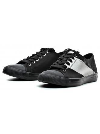 Sneakersy Męskie Calvin Klein Jeans Czarne Antonio SE8590 Black/Silver