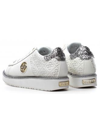 Sneakersy Damskie GUESS Białe DEBORA FLDEB3 PEL12 WHITE