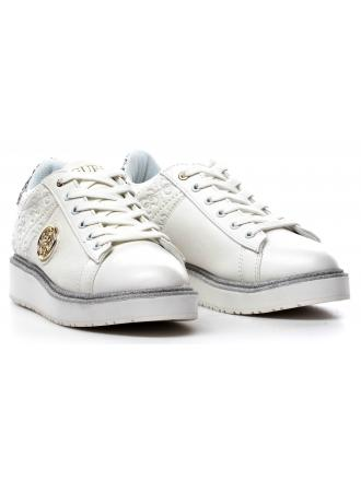 Sneakersy Damskie GUESS Białe 22 FLDEB3 PEL12 WHITE