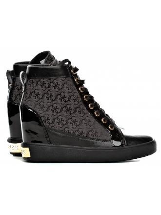 Sneakersy Damskie GUESS Czarne 22 FURRLEY FLFRY3 FAL12 BLKBL