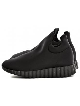 Sneakersy Damskie Venezia Czarne 102 LYC NERO