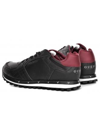 Sneakersy Męskie GUESS Czarne CALLAN FMCAL4 LEA12 BLACK