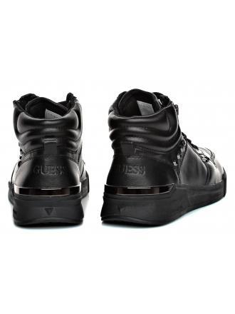 Sneakersy Męskie GUESS Czarne Skórzane KNIGHT FMKNM4 LEA12 BLACK