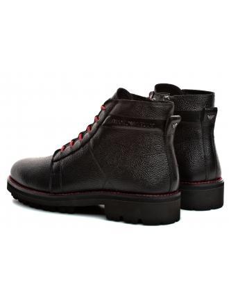 Trzewiki Męskie Emporio Armani Czarne X4M300 XL474 A117 BLACK/BLACK/BLACK