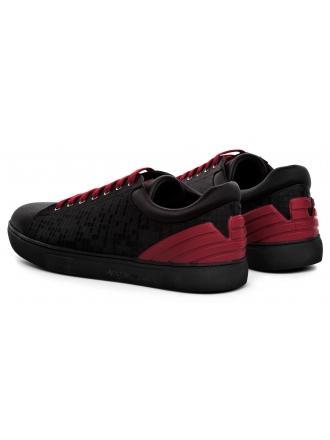 Sneakersy Męskie Emporio Armani Czarne X4X224 XL460 A109 BLK/BLK/MBLK/RED STB