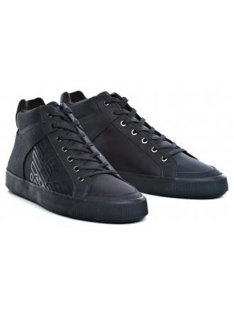 Sneakersy Męskie Emporio Armani Granatowe X4Z074 XL456 00554 NIGHT/NIGHT