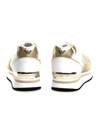 Sneakersy Damskie Emporio Armani Złote 45 X3X046 XL214 A100 SAND/WHITE