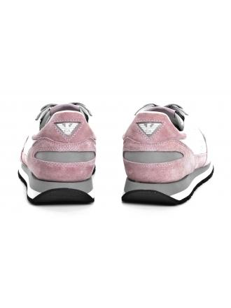 Sneakersy Damskie Emporio Armani Różowe X3X058 XL481 B047 ROSE/GREY