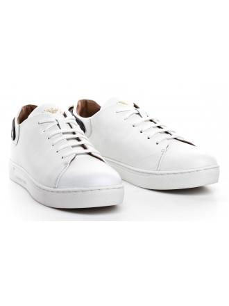 Sneakersy Damskie Emporio Armani Białe Skórzane X3X065 XL520 D611 OPT.WHITE/BLACK