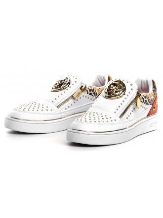 Sneakersy Damskie GUESS Białe BEELA2 FL5BE2 ELE12 WHICO
