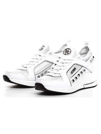 Sneakersy Damskie GUESS Białe JULYANN FL5JUL FAB12 WHITE