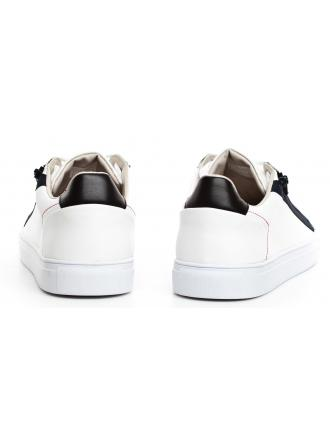 Sneakersy Męskie GUESS Białe Skórzane LUISS FM5LLO LEA12 WHIBL