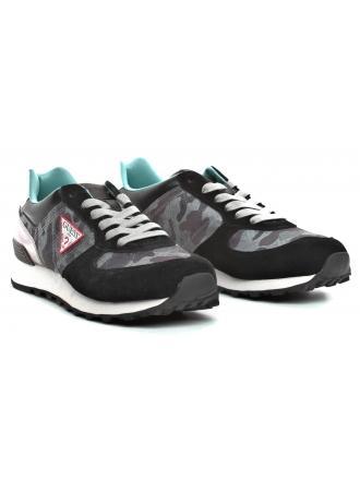 Sneakersy Męskie GUESS Czarne CHARLIE FM6CHA FAL12 BLACK