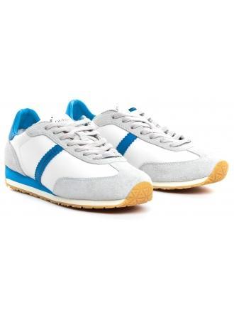 Sneakersy Męskie GUESS Białe Skórzane GLORYM FM6GLR LEA12 BLUE