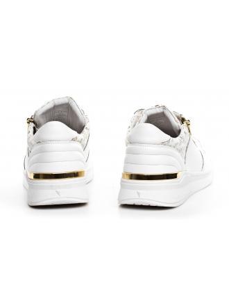 Sneakersy Męskie GUESS Białe Skórzane KNIGHT LOW FM6KNL LEA12 WHITE