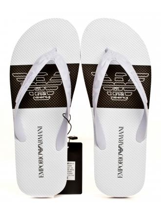 Japonki Męskie Emoporio Armani Białe X4P070 XL699 A227 WHITE/WHITE/BLACK