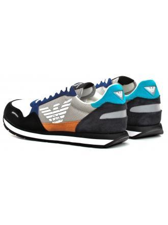 Sneakersy Męskie Emporio Armani Kolorowe X4X215 XL200 A588 BLACK/PLASTER