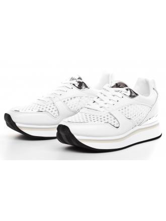 Sneakersy Damskie Emporio Armani Białe 45 X3X046 XL833 N777 WHITE/SILVER/WHT/WHT