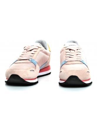 Sneakersy Damskie Emporio Armani Pudrowe X3X058 XL481 N805 NUDE/SKY/PEACH/SILVE