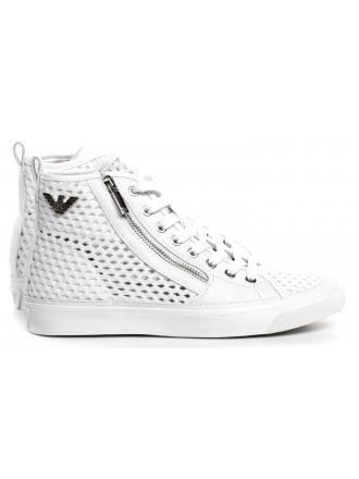Sneakersy Damskie Emporio Armani Białe X3Z017 XL856 A222 WHITE/WHITE