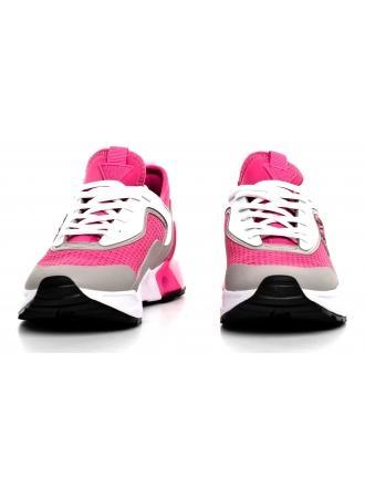 Sneakersy Damskie GUESS Różowe TECKIE FL6TEC FAB12 DPINK