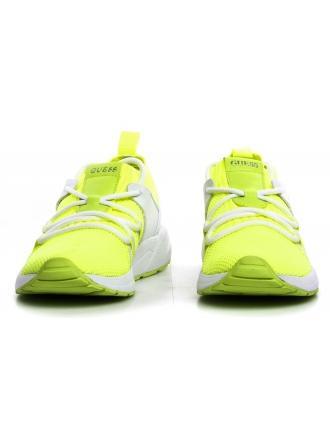 Sneakersy Damskie GUESS Neonowe Seledynowe VELLER FL6VEl FAB12 YELLO