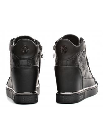 Sneakersy Damskie GUESS Czarne FABIA FL7FAB ELE12 BLACK