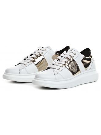 Sneakersy Męskie GUESS Biale OPERA FM7OPE LEA12 WHIGO