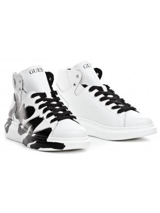 Sneakersy Męskie GUESS Białe OPERA HIGH FM7OPH LEP12 WHIBL